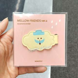 (包郵)🇰🇷Monopoly Mellow Friends Cloud Earphones Winder 繞線器