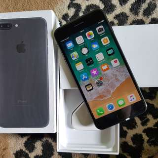 iPhone 7 Plus Matte Black 32Gb Mulus No Minus Ex Inter