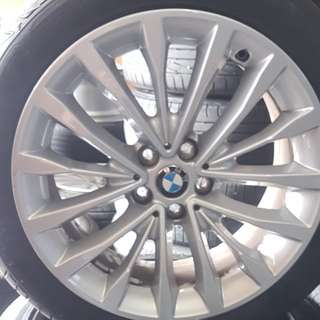 "Original BMW 18"" and new runflat tyres!!"