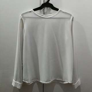 (Woman SM) White Long Sleeves