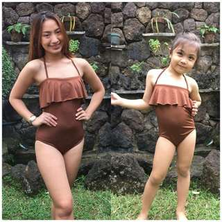 Mom and Daughter twinning swimsuit