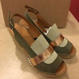 Espadrilles 西班牙品牌 高跟草底涼鞋 sandals Naguisa 拖鞋 Chanel Tory kenzo