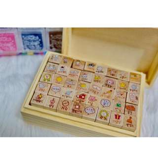 Wooden diary stamp!!!😍😍Free SF