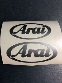 Arai grey stickers