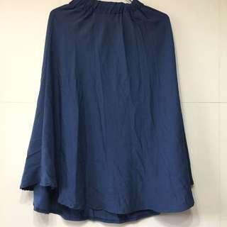 藍色棉質長裙