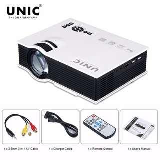 Unic UC40 Mini Portable Projector (White)