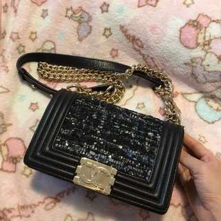 Chanel boy tweed style 20cm bag chanel fun jelly toy