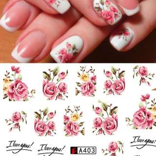 Nail Art Stickers Flower Design