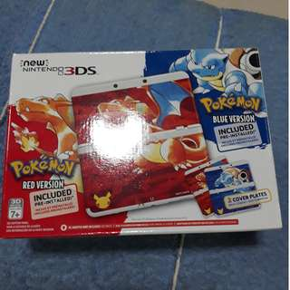 Nintendo New 3DS (N3DS) Pokemon 20th Anniversary Red&Blue Edition Console
