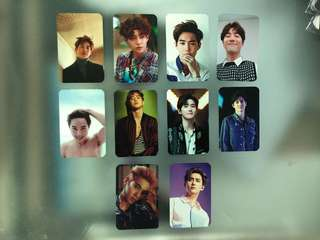 EXO FAN MADE PHOTO CARDS  LAY SUHO SEHUN XIUMIN CHANYEOL CHEN KAI BAEKHYUN DO