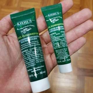 Kiehl's men's face wash and moisturizer (travel kit)