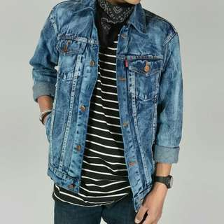 Jaket Jeans New - Model Abstrak