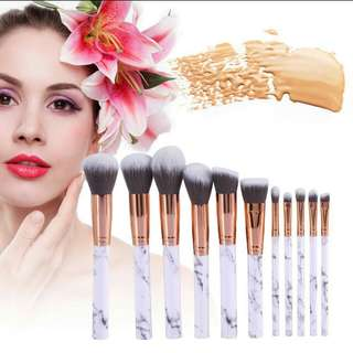 (10pcs) Marble Make Up Brush