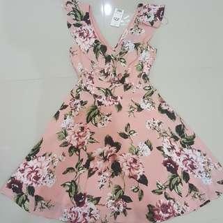 Miss Selfridge Pink Floral Dress