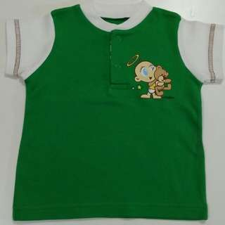 Cotton Stuff Baby boy green shirt