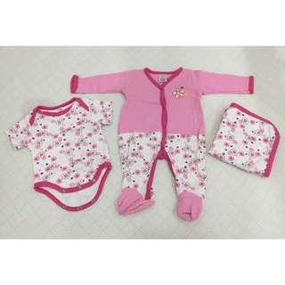Baby Starter Set (romper, sleepsuit & blanket)