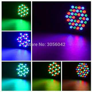 LED Stage Light Effect 36x1W Flat Par RGBW DMX512 DJ Disco Lamp KTV Bar Party Backlight  Beam Wash Dmx Spotlight