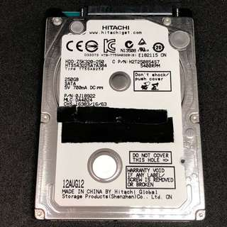 Hitachi 250GB notebook laptop hard disk Ps3