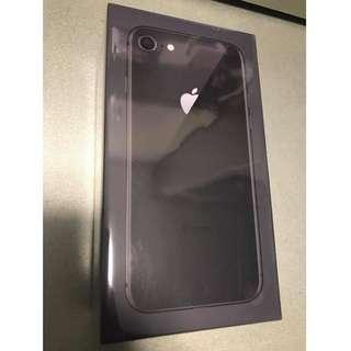 全新原裝行貨 iPhone 8 64gb Space grey / Black (太空灰 ) iPhone8 64g 64