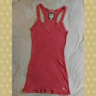 Abercrombie & Fitch (A&F) - 95%新女裝背心 - 粉紅色加細碼