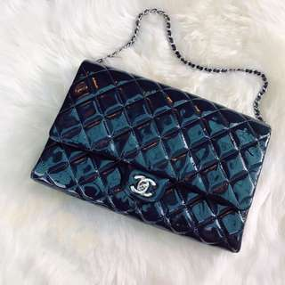Chanel shoulder clutch on chain