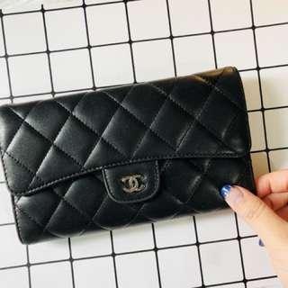 Chanel lambskin wallet