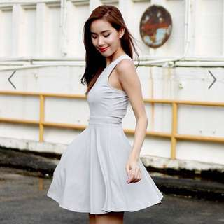 BN SSD Grey Backcut dress