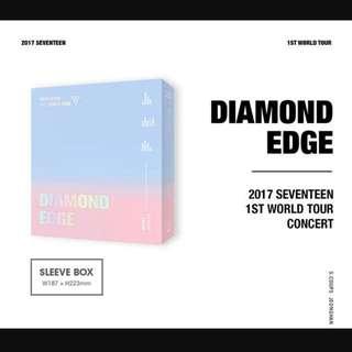 PRE ORDER SEVENTEEN 2017 1ST WORLD TOUR DIAMOND EDGE IN SEOUL CONCERT DVD