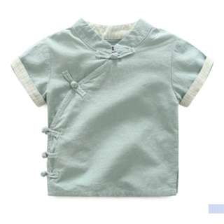 Gongxi Gongxi (green cny top for boys)