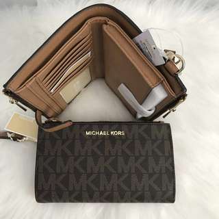 Incoming stocks Michael Kors Jet Set Travel Double Zip Wristlet Wallet