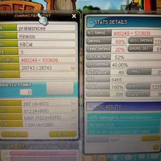 Selling aquila maple, maplesea account. With whole asiasoft ID. Kinesis lvl 201 and nightlord lvl 193. Kinesis clean atk range is 500k plus and NL is around 1.1m. Selling in SGD. Pm and offer me. Ty.