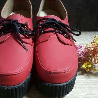 🚚 二手紅色蛋糕鞋👡