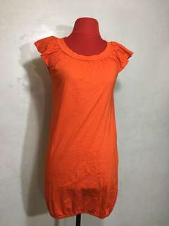 Nafnaf Orange Dress