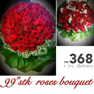 "99""stk FRESH roses bouquet"