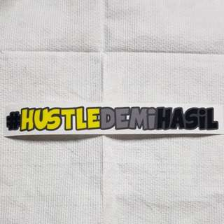 #hustledemihasil sticker for motorbike