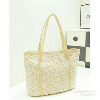 Lace flower woman handbag