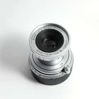 Leica Elmar-M 50mm f3.5 Collapsible E39 Lens