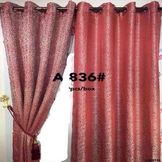 2 Piece Thick Red Curtains