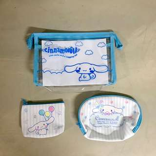 Cinnamoroll Cosmetic Pouches (a set of 3)