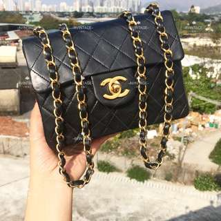Chanel Vintage 黑色 Mini Flap 18cm