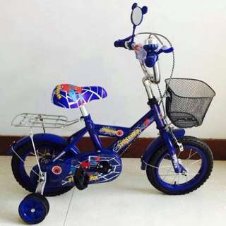 Blue Spiderman Bike with Balancer