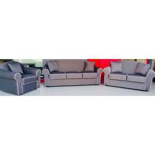 Grey Fabric (Korean Material) Sofa Set (3 + 2 + Single Seater)