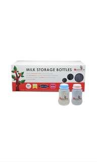 AppleTree Milk Storage Bottle 10pcs (free Mamy poko diaper)