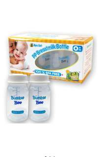 Bumble Bee BPA FREE 8+2 PP Breastmilk Storage Bottles (Free Mamy poko diaper)