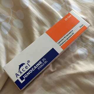 Brand New Axel Lignocaine Sterile Gel 2% 20gm