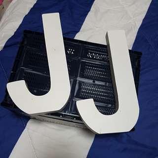 Letter J decor