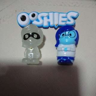 Lot 2 ooshies Disney Pixar inside out the incredibles