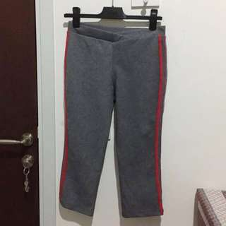 Grey-Red Training Pants
