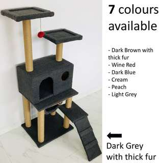 Cat Condo (7 colours) tree scratch post kitten climb play toy pole, not cage carrier bag cushion bed