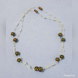Two Green Beaded Necklaces